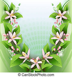 Background with delicate flowers