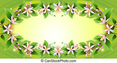 Background with delicate flowers - Beautiful background with...