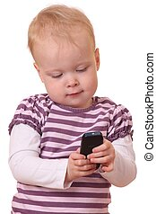 Toddler with phone