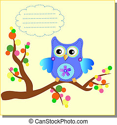 Cartoon Owl (vector version) - vector-image-work-18