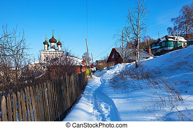 Gorokhovets in winter. Russia - View of Gorokhovets in...