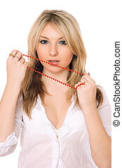 Bewitching blond ladyUpperhalf - Bewitching blond lady...