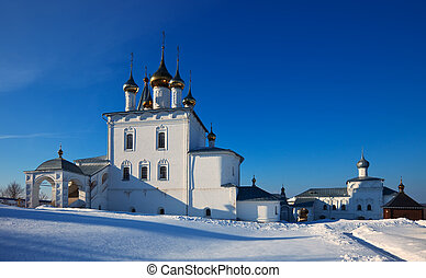 St. Nicholas monastery at Gorokhovets in winter - Holy...
