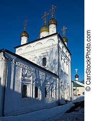Sretensky Cathedral at Gorokhovets in winter. Russia