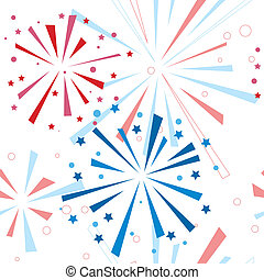Holiday fireworks seamless pattern. Vector illustration