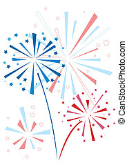 Vector firework in honor of Independence Day
