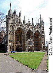 Peterborough Cathedral, England - West front of Peterborough...