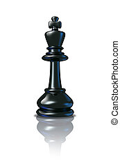 King - Chess King standing as a winning leader after...