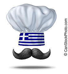Greek Cooking Concept - Greek cooking and food from Greece...