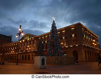 Christmas Lights in Pamplona - Main buildings in Pamplona...