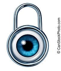 Security Monitoring - Security monitoring symbol with a...