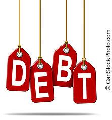 finansiell, skuld, Problem