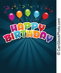 Happy birthday greeting card - Vector happy birthday...
