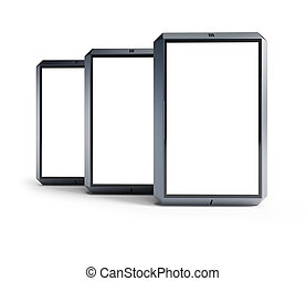 set of modern touchscreen smartphones - set of modern...
