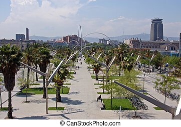Trade Centre Gardens, Barcelona.