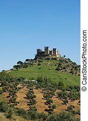 castelo, Almodovar, del, Rio, Espanha