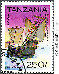 TANZANIA - CIRCA 1992: A stamp printed in Tanzania devoted...