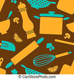 Retro Kitchen Background
