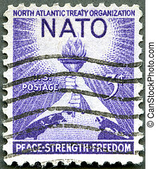 UNITED STATES - CIRCA 1952: A stamp printed by USA shows...
