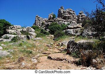 El Torcal National Park, Antequera - Karst landscape, El...