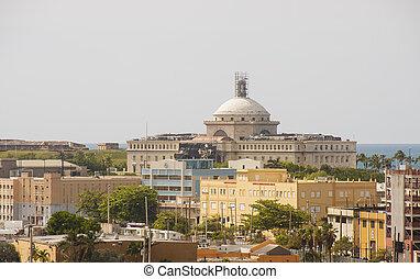 Skyline of Old San Juan Puerto Rico