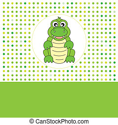 Fun card animals. crocodile