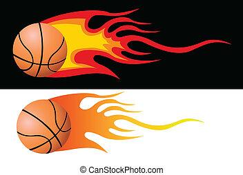 Vector Flaming Basketball