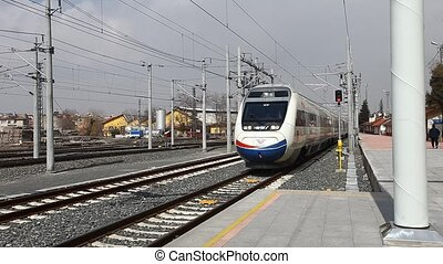 high speed trains - Konya, March 29, 2012, noon time: 18:30....
