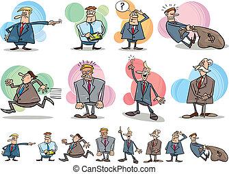 funny businessmen set