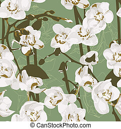 Seamless pattern with orchids - Beautiful seamless pattern...