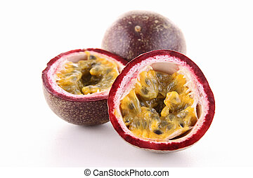 isolated passion fruit
