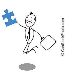 businessman and Jigsaw