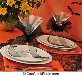 Tableware Halloween - Decorative table to feast served in...