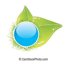 Green leaf vector concept
