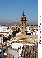 Rooftops, Antequera, Spain - San Sebastian nearest and San...
