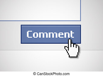 "Button Comment - Illustration of a blue ""comment"" button,..."