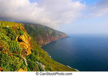 Cliffs, Madeira - Cliffs on west coast of Madeira, Portugal