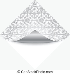 Vector illustration of silver note