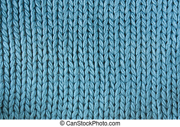 Close-up of a woolen pattern. Knitting pattern
