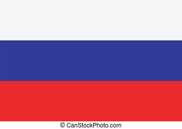 Vector illustration of the flag of Russia