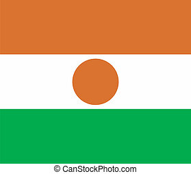 Vector illustration of the flag of Niger