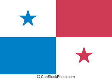 Vector illustration of the flag of Panama