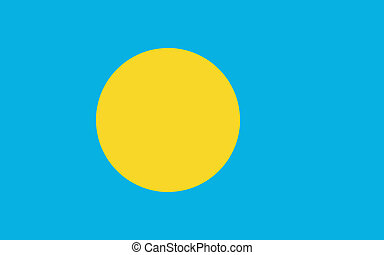 Vector illustration of the flag of Palau