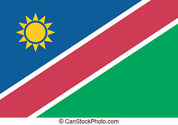 Vector illustration of the flag of Namibia