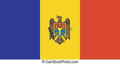 Vector illustration of the flag of  Moldova