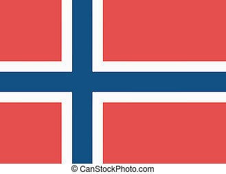 Vector illustration of the flag of Norway