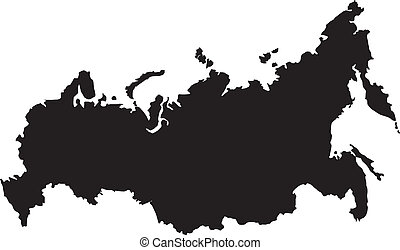 Vector illustration of maps of  Russia