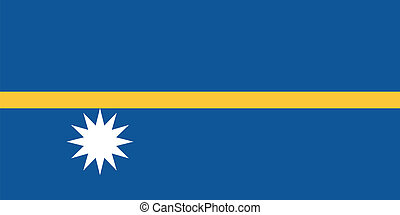 Vector illustration of the flag of  Nauru