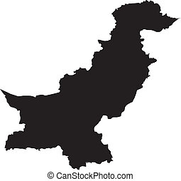 Vector illustration of maps of  Pakistan