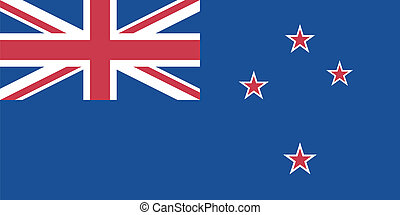 Vector illustration of the flag of New Zealand
